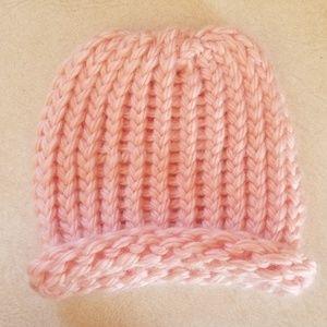 👶Hand Knit Pink Newborn Baby Hat 👶
